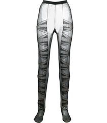 nensi dojaka panelled open-heel tights - black