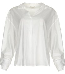 blouse met strik detail cappuccino  wit