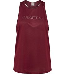 core essence mesh singlet w t-shirts & tops sleeveless röd craft
