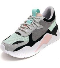 tenis moda dama sneakers  tellenzi 447 verde menta