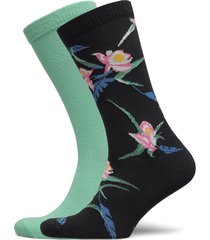 levis regular cut tropical print 2p underwear socks regular socks svart levi´s