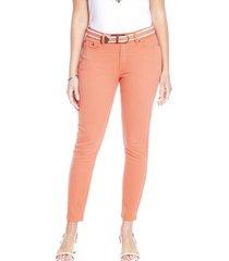 jeans pierna pitillo liso beige curvi