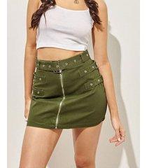 falda verde 47 street mos