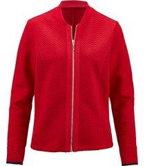 elegant jacka i sweatshirtmaterial dress in röd