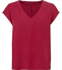 blouseshirt van tencel™ vezels met v-hals, bourgogne 34