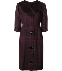 a.n.g.e.l.o. vintage cult 1960's checked buttoned dress - pink