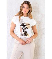 t-shirt panter metallic