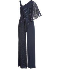 tuta elegante con pizzo (blu) - bodyflirt boutique