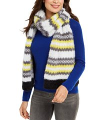 steve madden brushed knit chevron scarf