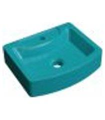 cuba de apoio retangular c01 para banheiro rt41 aria azul turquesa - lyam decor
