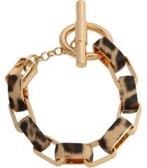 jessica simpson leopard link bracelet