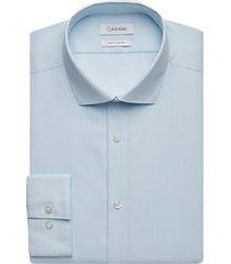 calvin klein blue check slim fit dress shirt