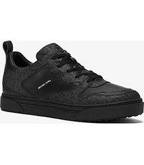 mk sneaker baxter in pelle con logo - nero (nero) - michael kors