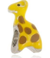 berloque boca santa semijoias girafa ouro branco