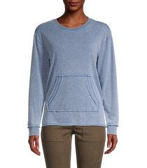 21 main women's crewneck long-sleeve sweatshirt - denim - size m