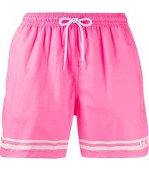gcds logo swim shorts - rosa