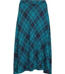 samira knälång kjol blå jumperfabriken