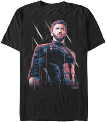 marvel men's avengers infinity war captain america strong pose short sleeve t-shirt
