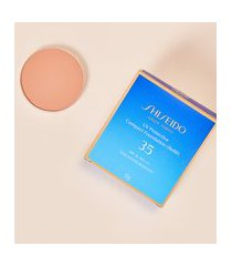 amaro feminino shiseido protetor solar facial compacto fps35 refil uv protective compact foundation - 12g, fair ivory