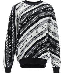 givenchy givenchy chaîne jacquard pullover