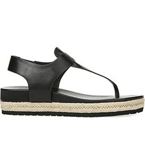 flint leather espadrille thong sandals