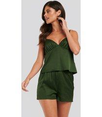 na-kd lingerie satinshorts - green