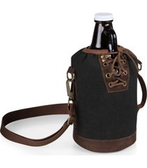 legacy by picnic time insulated growler tote with 64 oz. amber glass growler