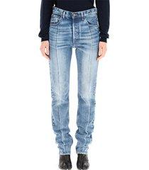 hoge taille slanke jeans