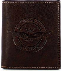 aeronautica militare mens brown wallet
