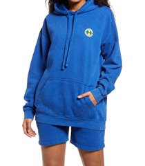 women's cross colours women's circle logo hoodie, size xxx-large - blue