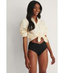 trendyol bikiniunderdel med hög midja - black