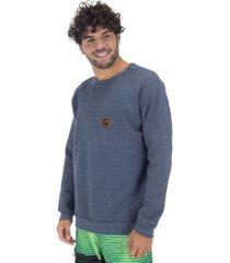 blusão de moletom hd 5679a - masculino - azul escuro