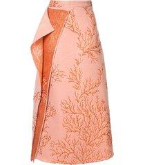 taller marmo los corales skirt - orange