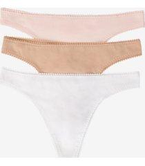 on gossamer women's cotton hip g panty, pack of 3