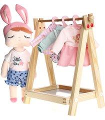 cabideiro para roupa de boneca büp baby
