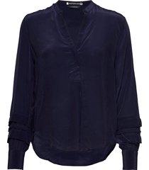 feminine top with special sleeve detail blouse lange mouwen blauw scotch & soda