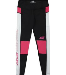 leggings negro-fucsia  skechers