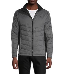 spyder men's full-zip quilted jacket - polar - size xl