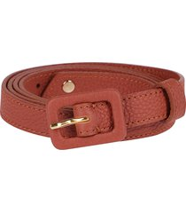 coral leather belt