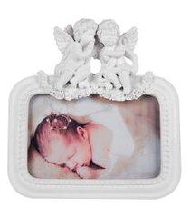 porta retrato anjos de resina foto 10x15