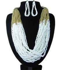 collar artesanal blanco sasmon cl-12336
