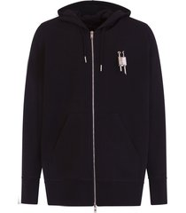 givenchy sweatshirt with zip, hood and 4g metal padlock on the chest