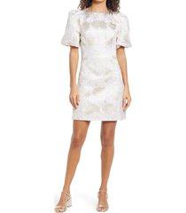 women's lilly pulitzer ailani print shift dress, size 16 - metallic