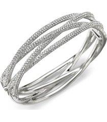 adriana orsini women's pavé intertwined bangle bracelet