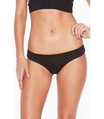 women's l space rio brazilian bikini bottoms, size large - black