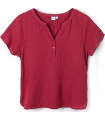 blusa manga corta rojo gap