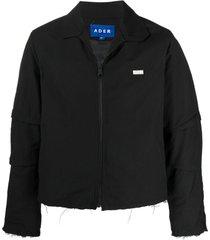 ader error frayed detailing shirt jacket