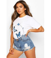 petite butterfly 'invent yourself' slogan t-shirt, white