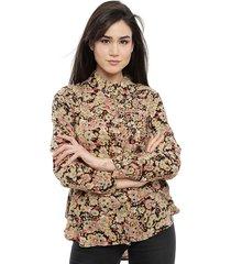 blusa tricot multicolor - calce regular