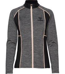hmlselby zip jacket sweat-shirt trui grijs hummel